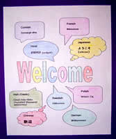 welcome poster in many languages