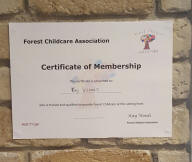 display the forest childcare certificate