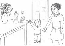 home safety colouring page for childminders